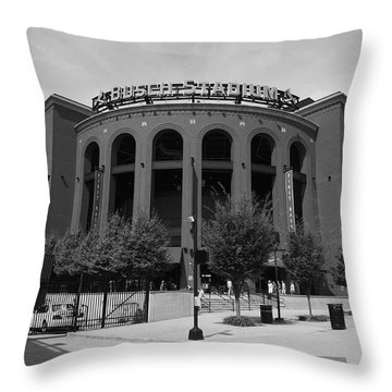 Busch Stadium - St. Louis Cardinals Throw Pillow