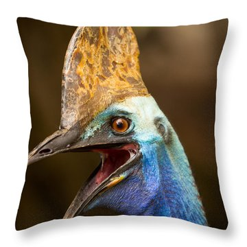Cassowary Throw Pillow