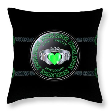 Celtic Claddagh Ring  Throw Pillow