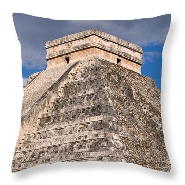 Chichen Itza Modern Seven Wonders Of The World In Mexico Throw Pillow