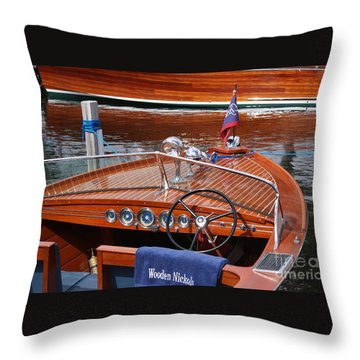 Chris Craft Sportsman Throw Pillow
