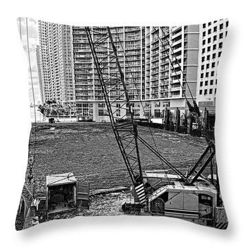 Construction Site-2 Throw Pillow