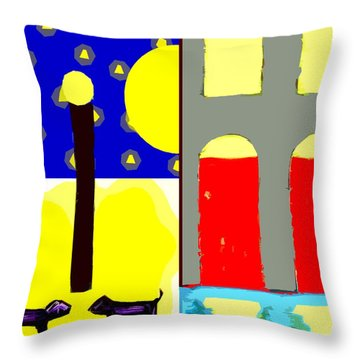 Dogs Throw Pillow by Patrick J Murphy