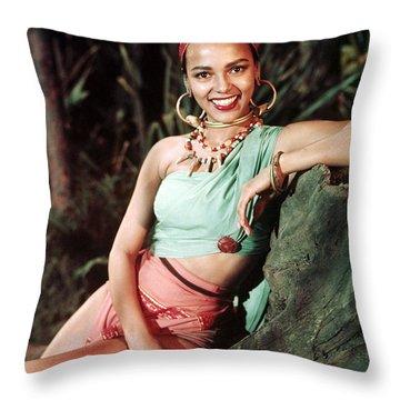 Dorothy Dandridge Throw Pillows