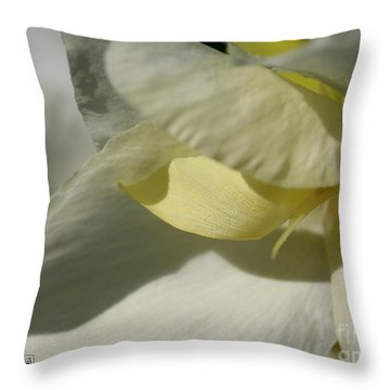 Dwarf Canna Lily Named Ermine Throw Pillow by J McCombie