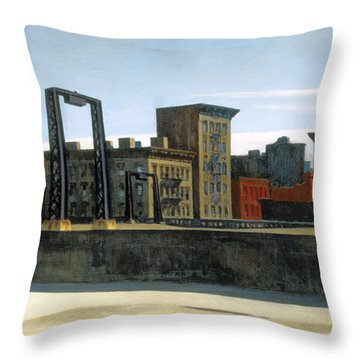 Manhattan Bridge Loop Throw Pillow