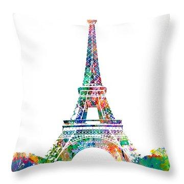 Eiffel Tower Paris France 1889 Throw Pillow