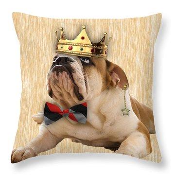 English Bulldog Bowtie Collection Throw Pillow