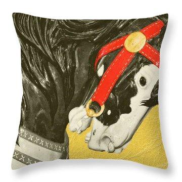 Fiery Stallion Throw Pillow by JAMART Photography