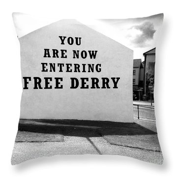 Free Derry Corner 5 Throw Pillow