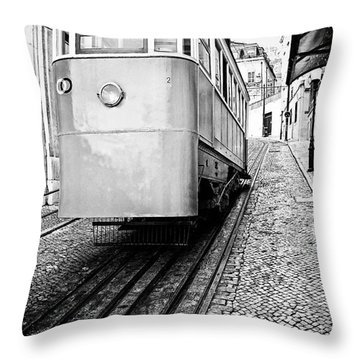 Gloria Funicular Throw Pillow by Jose Elias - Sofia Pereira