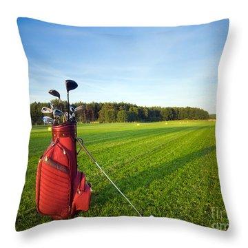 Golf Gear Throw Pillow by Michal Bednarek