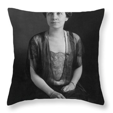 Grace Anna Coolidge (1879-1957) Throw Pillow