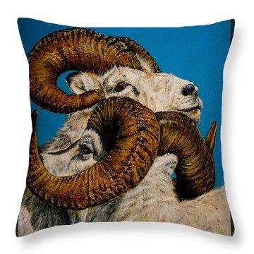 Horns Throw Pillow by Linda Simon