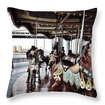 Jane's Carousel Throw Pillow
