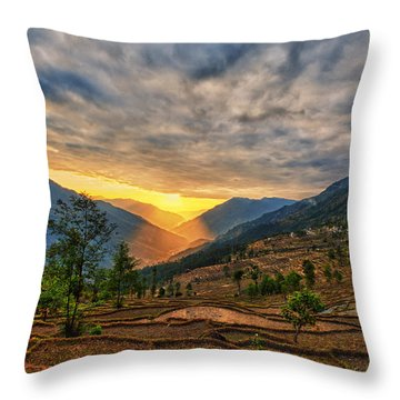 Kalinchok Kathmandu Valley Nepal Throw Pillow