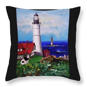 Lighthouse Hill Throw Pillow