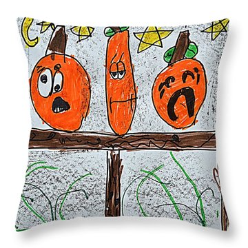 5 Little Pumpkins Throw Pillow