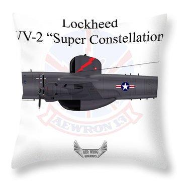 Lockheed Wv-2 Super Constellation Throw Pillow by Arthur Eggers