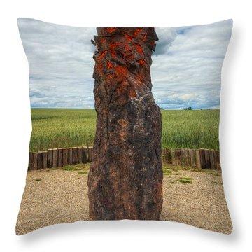 menhir Stone Shepherd Throw Pillow