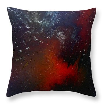 Throw Pillow featuring the painting No Tittle by Min Zou
