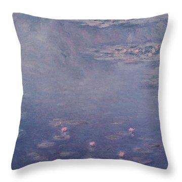 Nympheas Throw Pillow by Claude Monet