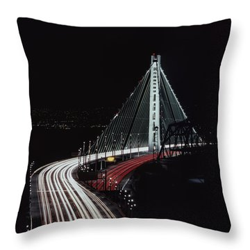 Oakland Bridge Throw Pillow