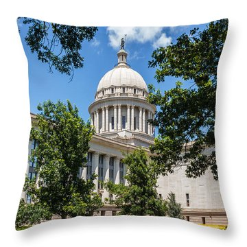 Oklahoma State Capital Throw Pillow