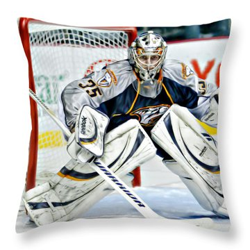Pekka Rinne Throw Pillow by Don Olea