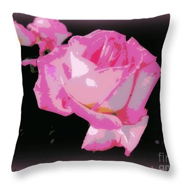 Throw Pillow featuring the photograph Pink Rose by Leanne Seymour