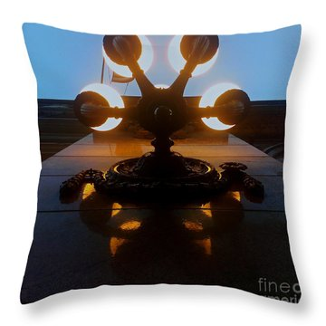 Throw Pillow featuring the photograph 5 Points Of Light by James Aiken