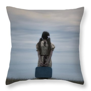 Refugee Girl Throw Pillow by Joana Kruse