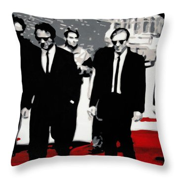 Reservoir Dogs Throw Pillow by Luis Ludzska