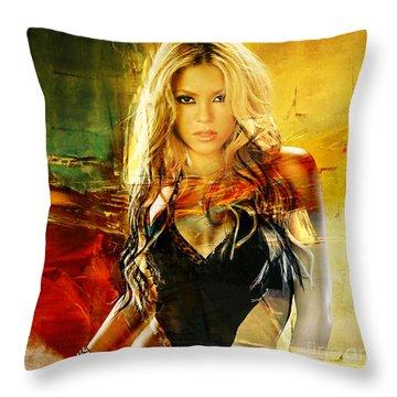 Shakira Throw Pillow by Marvin Blaine
