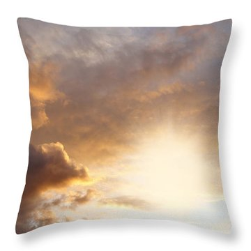 Sky Throw Pillow by Les Cunliffe