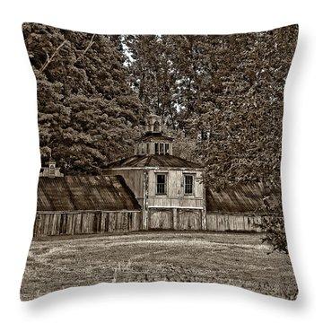 5 Star Barn Monochrome Throw Pillow by Steve Harrington