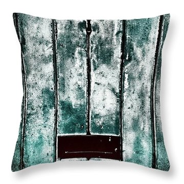 The Blue Door Throw Pillow by Jason Michael Roust