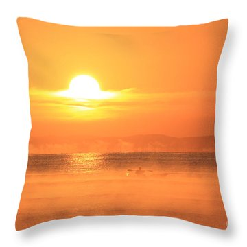 One Beautiful Morning... Throw Pillow by Katy Mei
