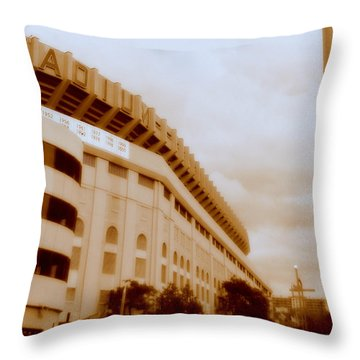 Throw Pillow featuring the photograph The House That Ruth Built by Aurelio Zucco