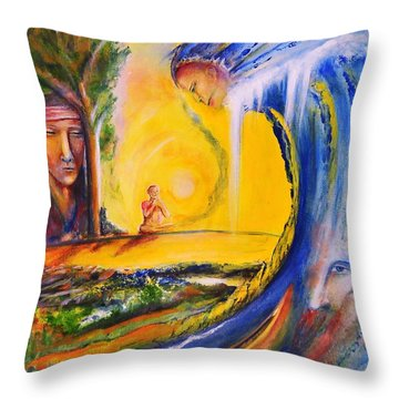 The Island Of Man Throw Pillow