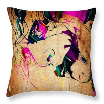 The Joker Heath Ledger Collection Throw Pillow