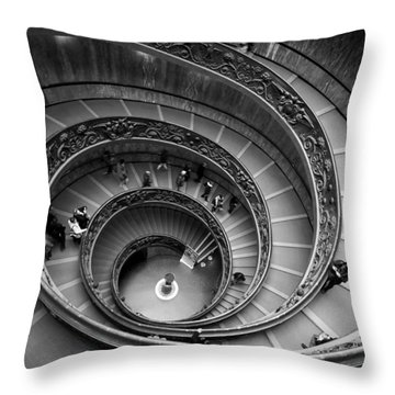 The Vatican Stairs Throw Pillow by Jouko Lehto