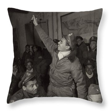 Tuskegee Airmen, 1945 Throw Pillow by Granger