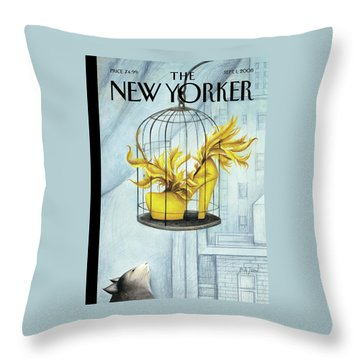 New Yorker September 1st, 2008 Throw Pillow