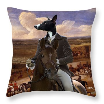 Whippet  Art Canvas Print Throw Pillow