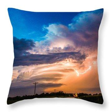 Wicked Good Nebraska Supercell Throw Pillow