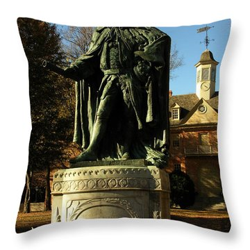 William And Mary College With Wren Building Throw Pillow