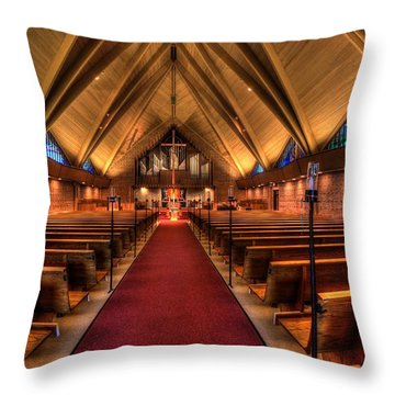Woodlake Lutheran Church Throw Pillow