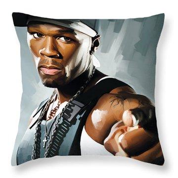 50 Cent Artwork 2 Throw Pillow