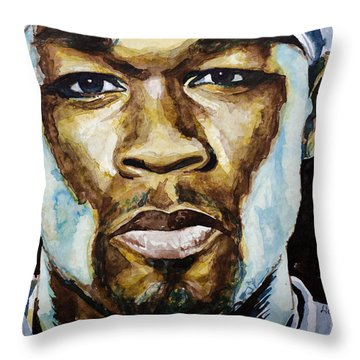 50 Cent Throw Pillow by Laur Iduc